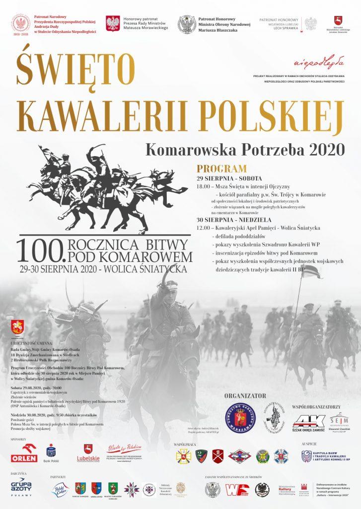 Plakat przedstawiający program uroczystości